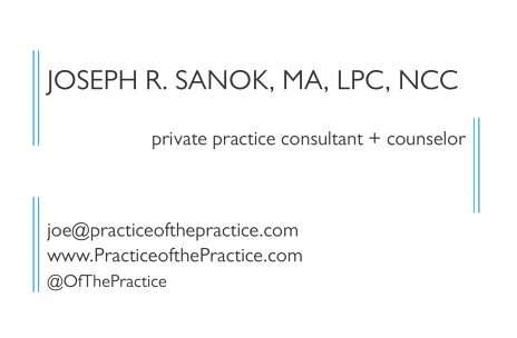 private practice consultant business card