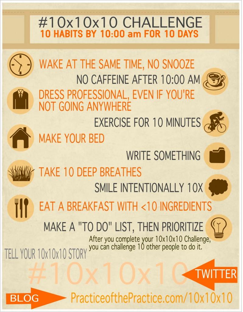ENTREPRENEUR HABITS 10x10x10 Challenge BEST