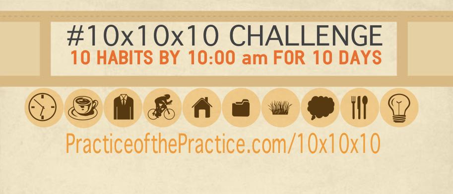 Entrepreneur Habits 10x10x10 Challenge promo