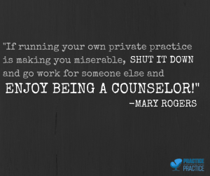 _If running your own private practice is