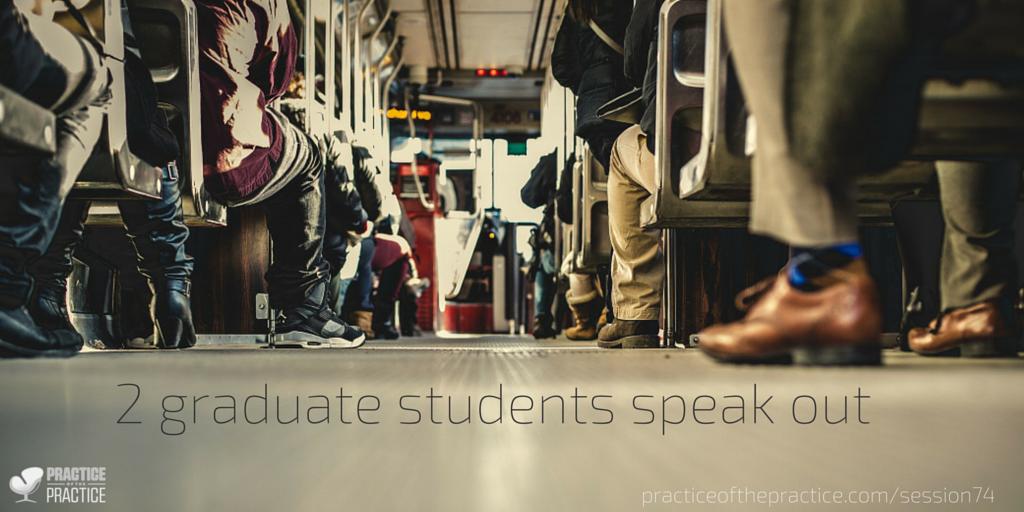 2 graduate students speak out