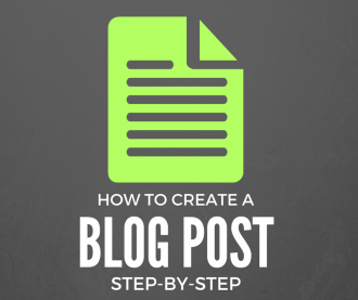 how to create a blog post