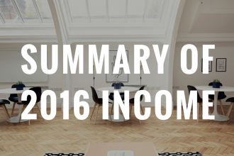 summary of 2016 income