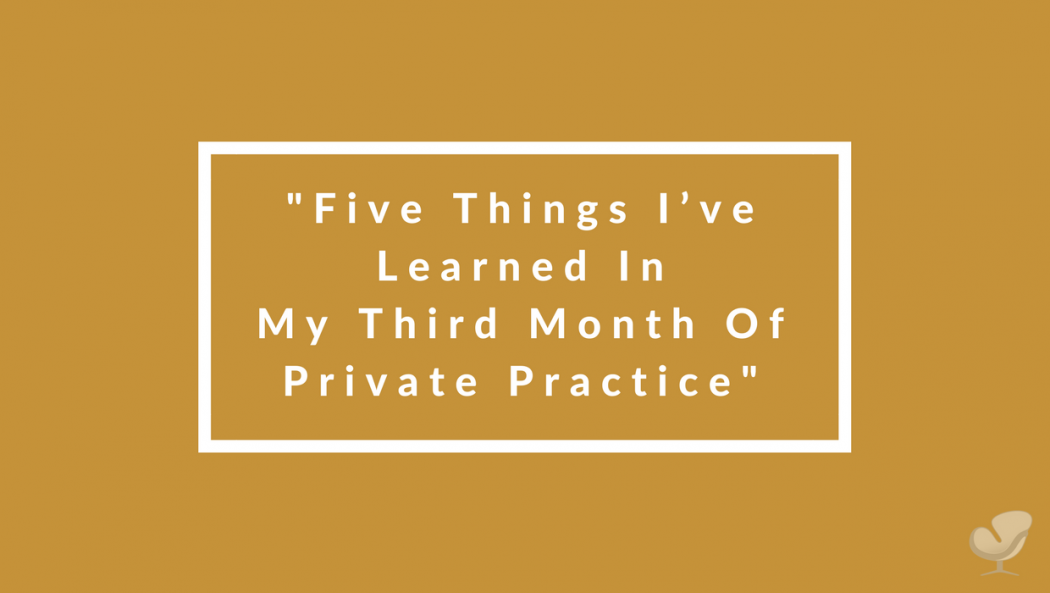 Lessons learned in private practice