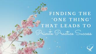 Private practice success