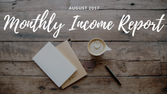 August 2017 monthly income report