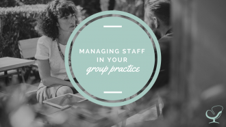 Managing staff in a group practice