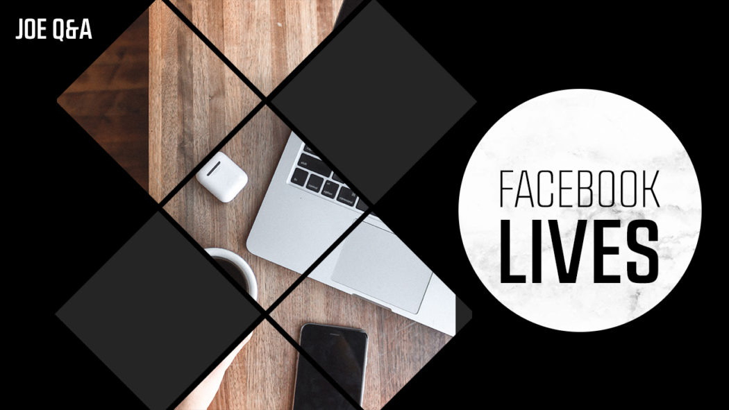 What content can you use for Facebook live?