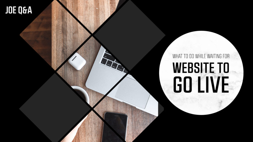 What to do while you wait for your website to go live