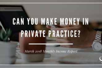 March 2018 Monthly Income Report