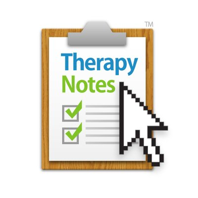 Therapy Notes logo representing how Therapy Notes has sponsored this therapist podcast episode on branding for a private practice.