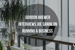 Gordon Brewer interviews Joe Sanok on running a business