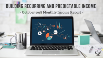 Building Recurring and Predictable Income | October 2018 Monthly Income Report