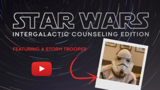 Star Wars Intergalactical Counseling Edition Featuring a Stormtrooper