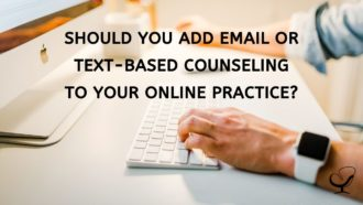 Email or text-based counseling