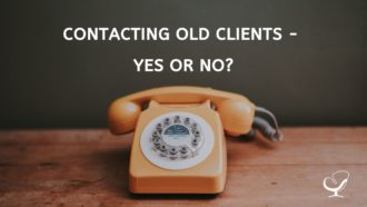 Contacting Old Clients In Private Practice