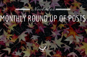 Monthly Round Up Of Posts: November 2019