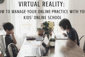 Image representing online schooling and online practice   single parenting   online schooling during a pandemic   single parenting   private practice   practice of the practice