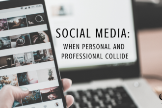 Image representing social media: when personal and professional collides | practice of the practice | personal social media accounts vs professional social media accounts | managing your personal social media account as a private practice clinician