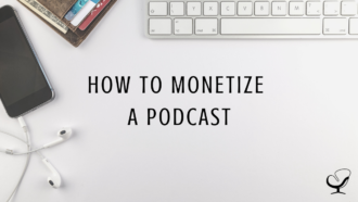 Image representing how to monetize a podcast by Joe Sanok | podcasting | Content Creation | Tips