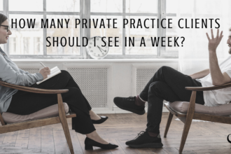 Image used for Practice of the Practice   Photograph representing a mental health clinician seeing a private practice client.