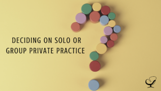 Deciding on Solo or Group Private Practice | Image showing a question mark | Practice of the Practice Blog | Mental Health Article for Clinicians
