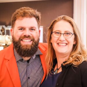A photo of Curt Widhalm and Katie Vernoy is captured on the Faith in Practice Podcast. They are both Licensed Marriage and Family Therapists, as well as the creators of the Therapy Reimagined Conference. They speak with Whitney Owens about how to host a conference.