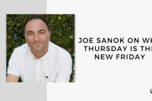 A photo of Joe Sanok is captured. Joe Sanok is the author of Thursday is the New Friday: How to work fewer hours, make more money, and spend time doing what you want. Joe Sanok is featured on the Practice of the Practice, a therapist podcast.